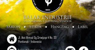 Balak Industrie, Tempatnya Spesialis Sablon di Pontianak