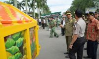 Seni Mural Hiasi Bak Sampah di Pontianak